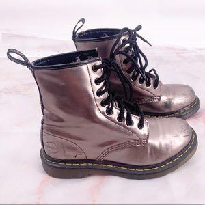 Dr marten metallic bronze size 7 1460 boots